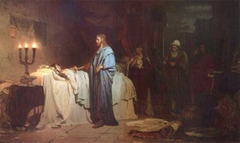Jesus raising Jairus's daughter from the dead, Ilya Repin (1871)