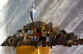 Amos - Sculpture, The Plumb Line and the City, Coventry Cathedral, England