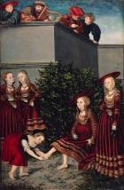 David und Batheseba by Lucas Cranach der Ältere (the Elder), 1526