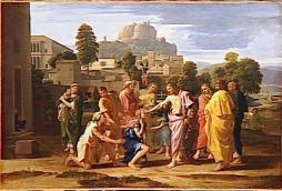 Jesus Heals Bartimaeus, Nicholas Poussin,1650