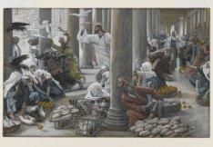 The Merchants Chased from the Temple (Les vendeurs chassés du Temple), James Tissot, 1886-1894