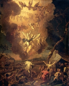 The Annunciation to the Shepherds (1663), Abraham Hondius (1631-1691)