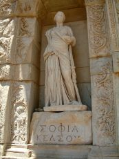 Wisdom (Σοφία or Sophia), Celsus Library, Ephesus, Turkey