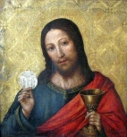 Christ with the Host, Pablo da San Leocadio, c 16th century