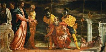 Healing the Centurion's servant, Paolo Caliari (aka Paolo Veronese) (1528-1588)