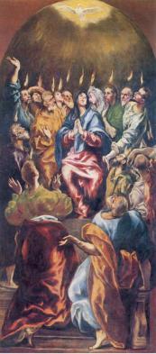 Pentecost (1596), Doménikos Theotokópoulos (El Greco) (1541-1614), Museo del Prado, Madrid.