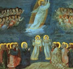 The Ascension (L'Ascensione), 1305, Giotto di Bondone (1266-1337), Scrovegni Chapel, Padua, Italy