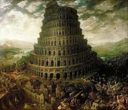 Tower of Babel by an unknown Flemish painter, 1587, Kurpfalziches Museum, Heidelberg
