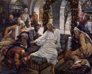 A woman anoints the feet of Jesus (Une femme oint les pieds de Jésus), James Tissot (1836-1902)