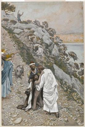 Christ healing the demoniac of the Gerasenes (Christ guérissant le démoniaque des Gadaréniens) (1886-1896), James Tissot (1836-1902)