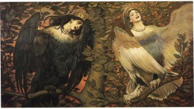 Sirin and Alkonost, The Birds of Joy and Sorrow (1896), Viktor Mikhaylovich Vasnetsov (1848-1926)