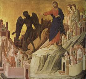 The Temptation of Christ on the Mountain (1308-1311), Duccio di Buoninsegna (1255-1319)