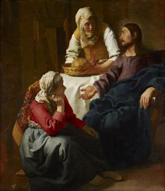 Christ in the House of Martha and Mary (1654-1655), National Gallery of Scotland, Edinburgh, Johannes Vermeer (1632-1675)