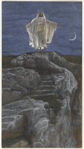 Jesus Goes Up Alone onto a Mountain to Pray (Jésus monte seul sur une montagne pour prier) (1886-1894), James Tissot (1836-1902), Brooklyn Museum