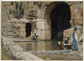 The Blind Man Washes in the Pool of Siloam (Le aveugle-né se lave à la piscine de Siloë), James Tissot (1836-1902)