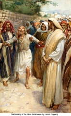 The Healing of the Blind Bartimaeus, Harold Copping (1863-1932)