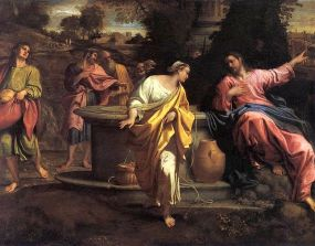 The Samaritan Woman at the Well, Annibale Carracci (1560-1609), Museum of Fine Arts, Budapest