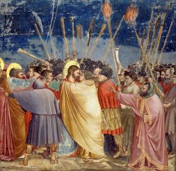 Kiss of Judas (1304–06), Giotto (1266-1337), Scrovegni Chapel, Padua, Italy