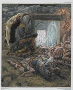 Mary Magdalene and the Holy Women at the Tomb (Madeleine et les saintes femmes au tombeau) (1886-1894), James Tissot (1836-1902)