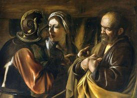 The Denial of Saint Peter (1610), Caravaggio (1571-1610)