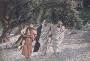 The Pilgrims of Emmaus on the Road (Les pèlerins d'Emmaüs en chemin) (1884), James Tissot (1836-1902)