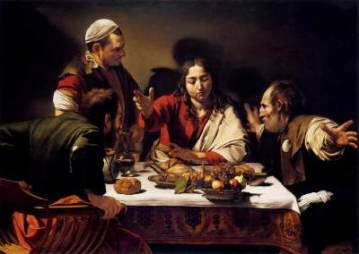 The Supper at Emmaus, Michelangelo Merisi da Caravaggio (1571-1610)