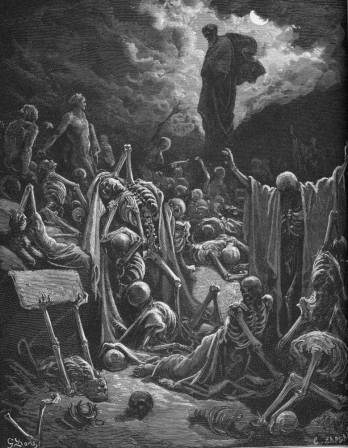 The vision of the valley of dry bones (1866), Gustav Doré (1832-1883)