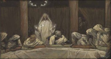 The Appearance of Christ at the Cenacle (upper room) (Apparition du Christ au cénacle) (1886-1894), James Tissot (1836-1902)