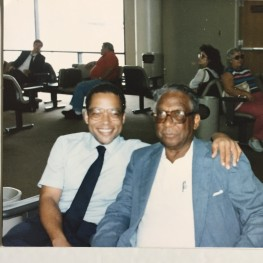 Dad & me, Tuesday, 7-29-86, Charleston Int'l Airport