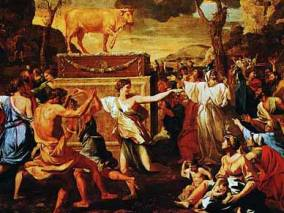 The Adoration of the Golden Calf (1633-1634), Nicolas Poussin (1594-1665)