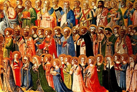saints (a great cloud of witnesses), Fra Angelico (1395-1455)
