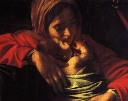 Detail of The Adoration of the Shepherds (Adorazione dei pastori) (1609), Michelangelo Merisi da Caravaggio (1571-1610)