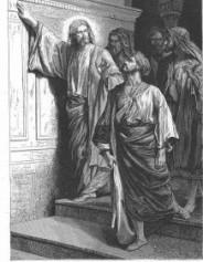 Jesus foretells the destruction of the temple, Alexandre Bida, 1874
